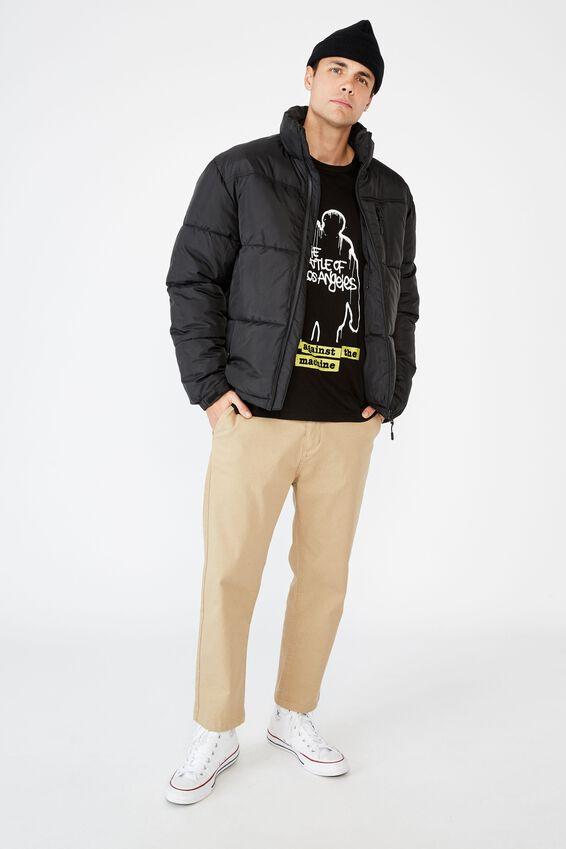 Tbar Collab Music T-Shirt, LCN LN SK8 BLACK RATM - BATTLE OF LOS ANGELES