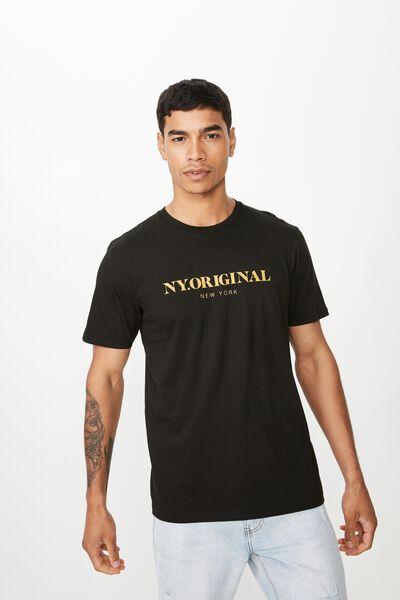 Tbar Urban T-Shirt, BLACK/NY ORIGINAL