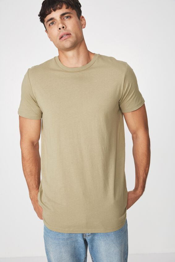 Essential Longline Curved Hem, LINT GREEN