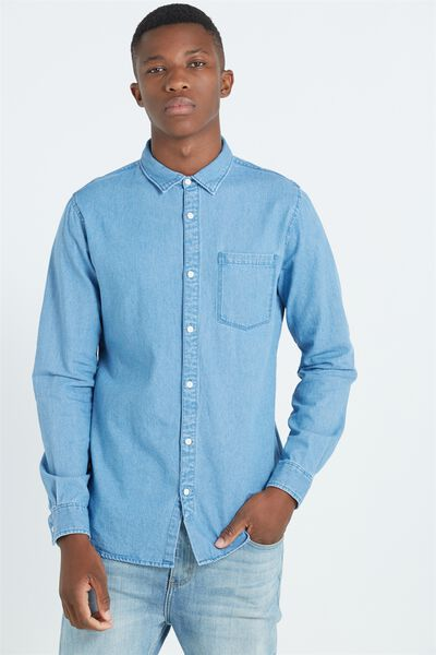91 Shirt, MID BLUE DENIM