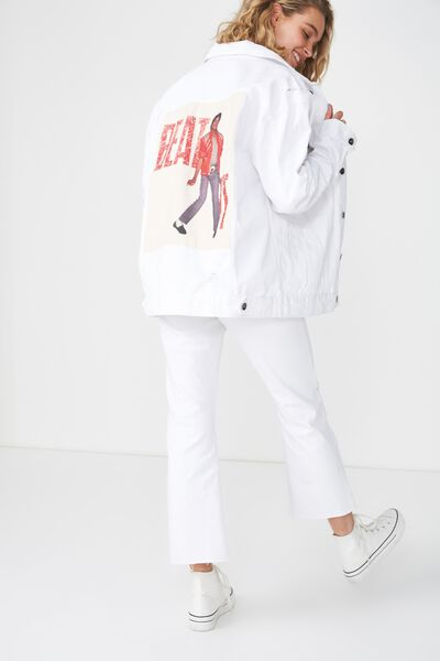 Rodeo Collaboration Jacket, MJ BEAT IT/WHITE