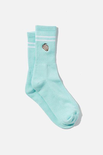 Special Edition Active Sock, LCN PUSH TONAL AQUA/PUSHEEN NAH
