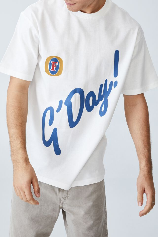 Fosters T-Shirt, LCN FOS VINTAGE WHITE/FOSTERS - GDAY