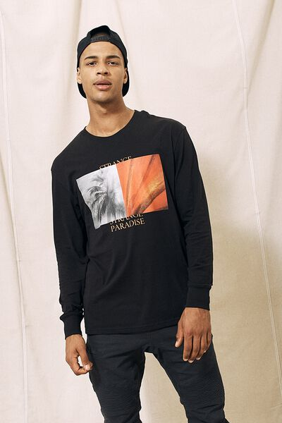 Tbar Long Sleeve, BLACK/ABSTRACT COLLECTIVE