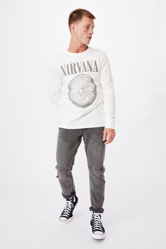 Tbar Collab Long Sleeve T-Shirt, LCN LN VINTAGE WHITE/NIRVANA - SPIRAL