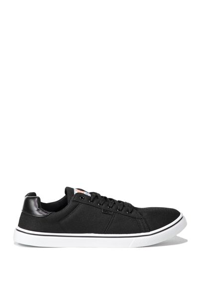 Cross Court Sneaker, BLACK