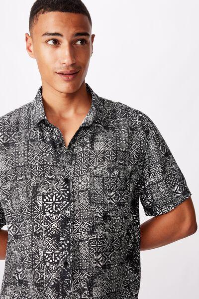 91 Short Sleeve Shirt, PAISLEY GRID