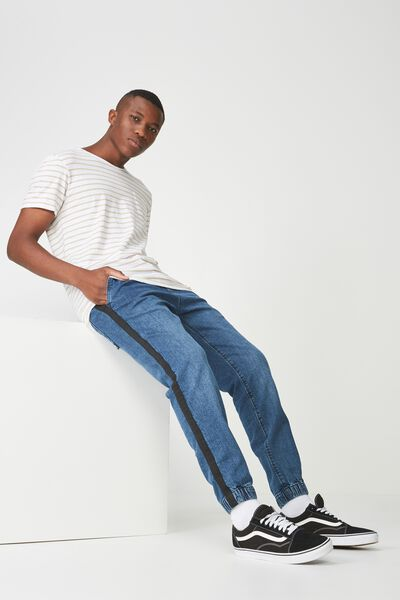 Drake Cuffed Pant, DARK INDIGO DENIM SIDE STRIPE