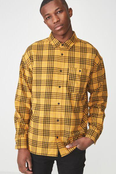 Rugged Long Sleeve Shirt, YELLOW CHECK