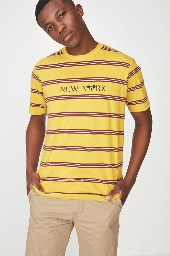 Tbar Collaboration Tee, LC GOLDEN ROD/BARN RED/WHITE STRIPE/NY MICKEY