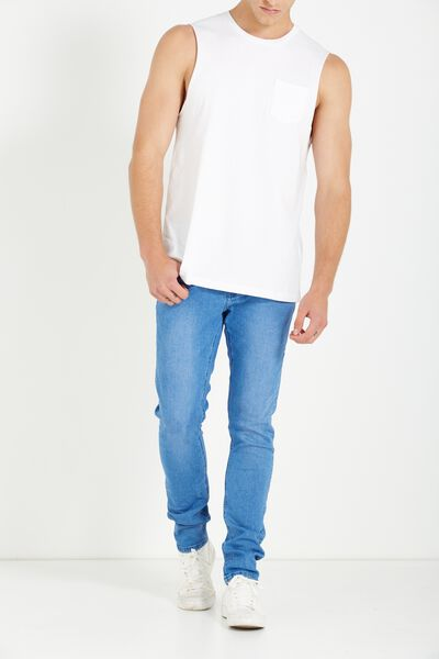 Slim Fit Jean, STROBE BLUE