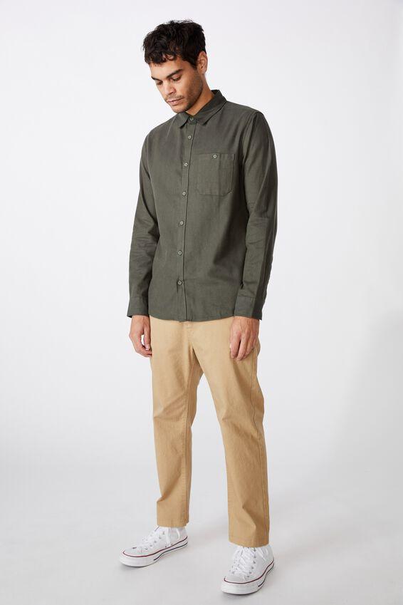 Rugged Long Sleeve Shirt, KHAKI