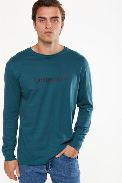 Tbar Long Sleeve, DARK TEAL/UNTITLED NO 7