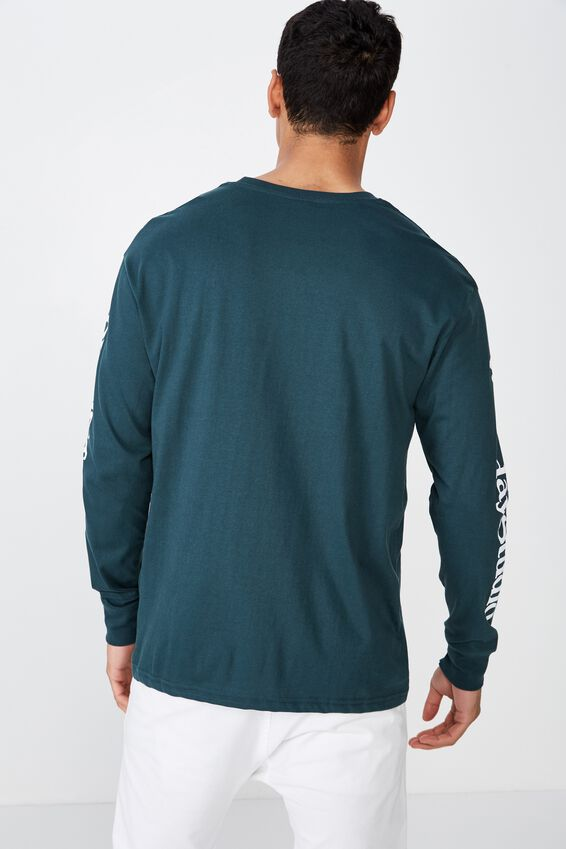 Tbar Long Sleeve, DEEP SEA TEAL/WEEKDAY STUDIOS
