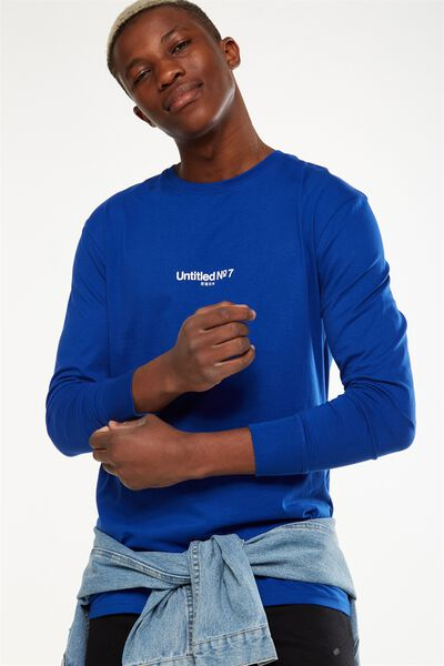 Tbar Long Sleeve, ROYAL BLUE/UNTITLED NO 7