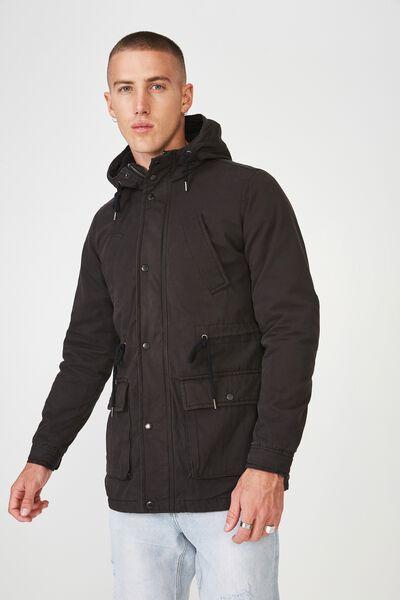 Nu Military Jacket, BLACK