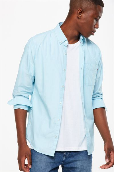 Brunswick Shirt 3, TEAL END ON END