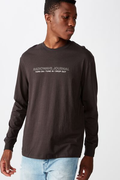 Tbar Long Sleeve, WASHED BLACK/TUNE IN DROP OUT