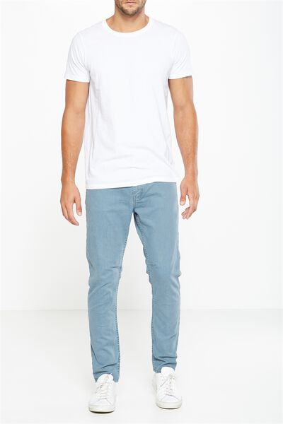 Tapered Leg Jean, BLUE SLATE