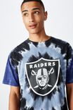 Special Edition Tee, LCN NFL WHITE/OAKLAND RAIDERS - TIE DYE
