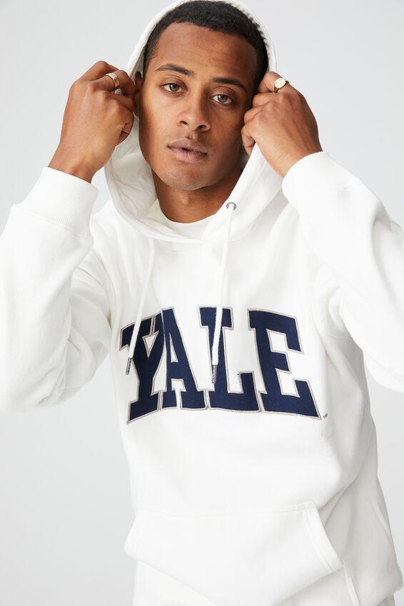 Premium Collab Fleece Pullover, LCN YAL VINTAGE WHITE/YALE-VINTAGE LOGO