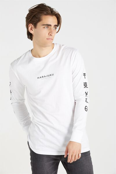 Tbar Long Sleeve, WHITE/HARAJUKU GOODS