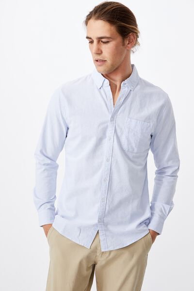 Brunswick Shirt 3, SKY WHITE STRIPE