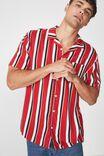 Festival Shirt, RED WHITE NAVY STRIPE