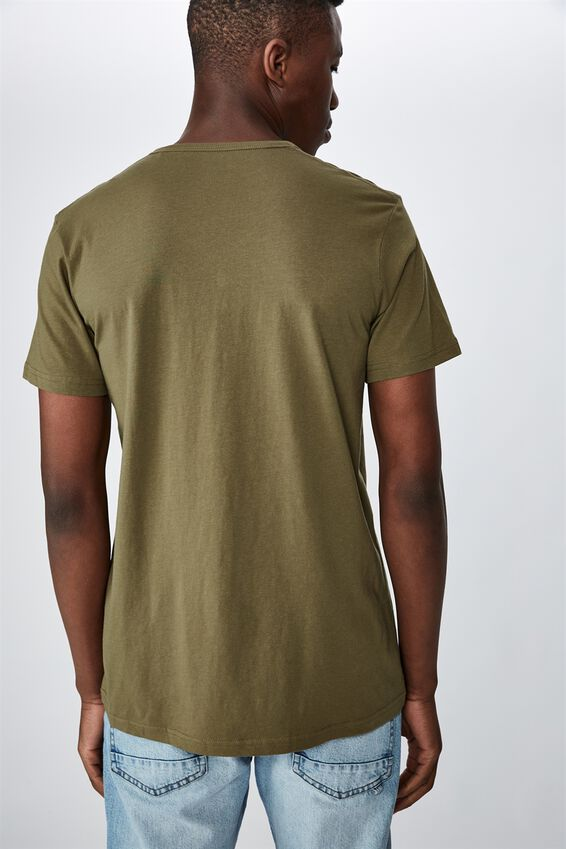 Essential Henley T-Shirt, JUNGLE KHAKI
