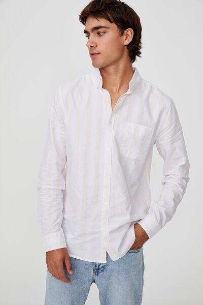 Brunswick Shirt 3, WHITE LEMON BOLD STRIPE