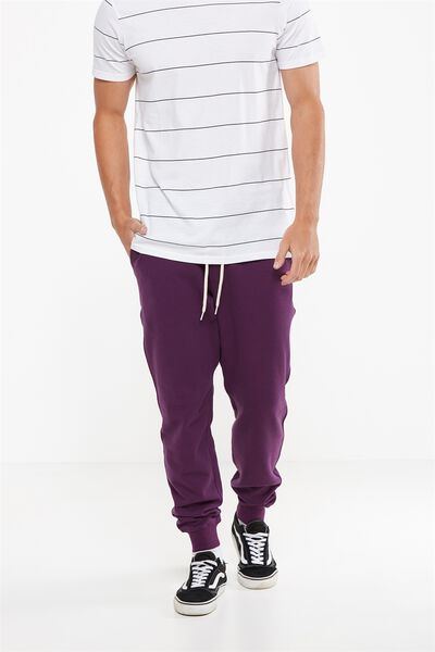 Trippy Slim Trackie, PLUM PURPLE