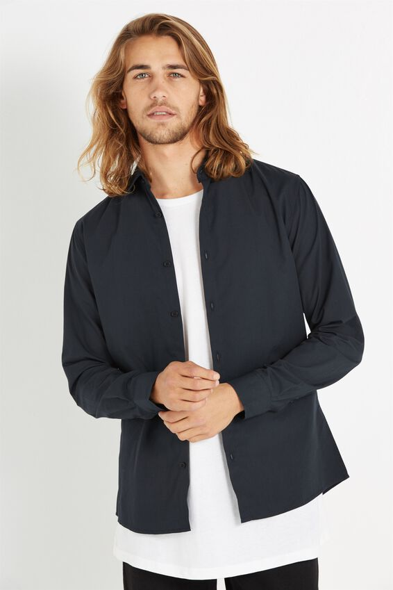 Slim Smart Shirt, BLACK