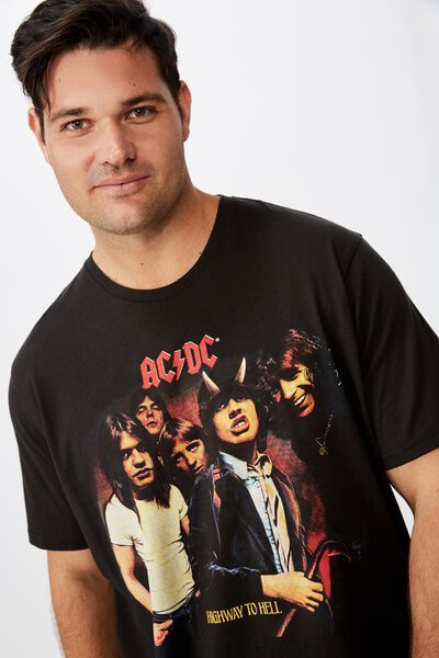 Bg Tbar Collab Tee, LCN PER WASHED BLACK/ACDC - HIGHWAY TO HELL