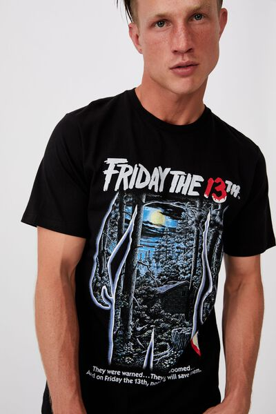Tbar Collab Movie And Tv T-Shirt, LCN WB BLACK/FRIDAY THE 13TH - DOOMED