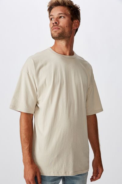 Oversized Droptail Tee, PEARL