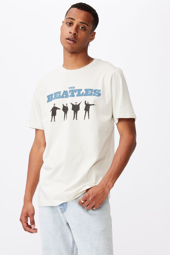 Tbar Collab Music T-Shirt, LCN APP BONE/THE BEATLES-HELP