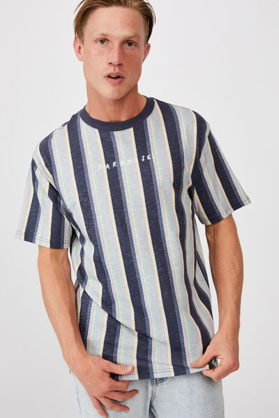 Downtown T-Shirt, PARADISE NAVY STRIPE
