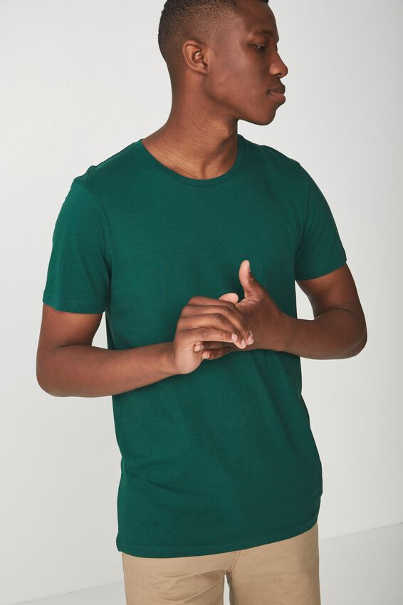 Essential Crew Tee, POSY GREEN