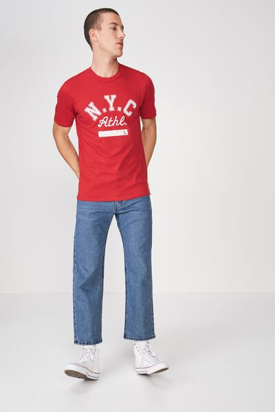 Tbar Tee 2, FIRE RED/NYC ATHLETICS