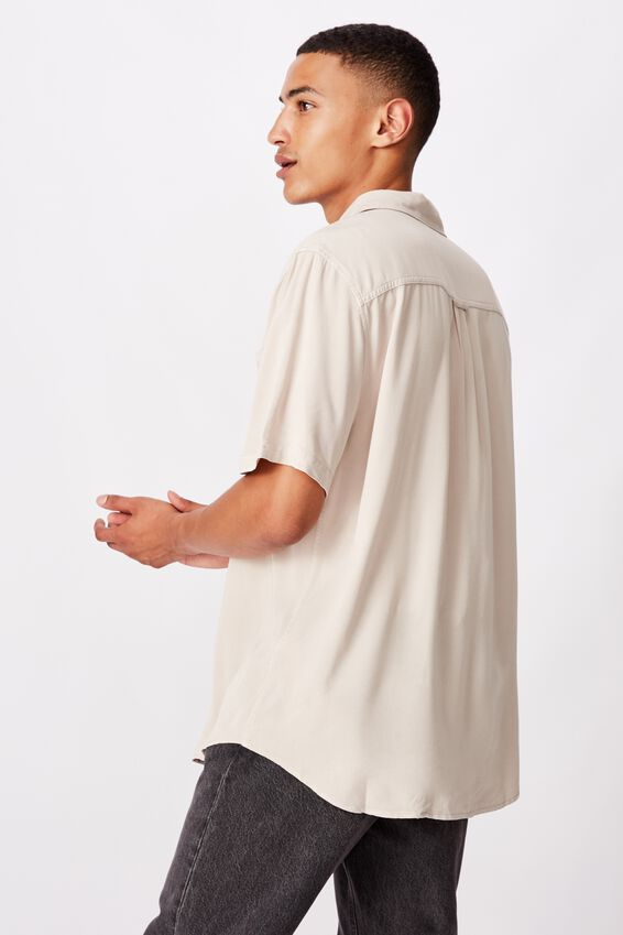 91 Short Sleeve Shirt, STONE