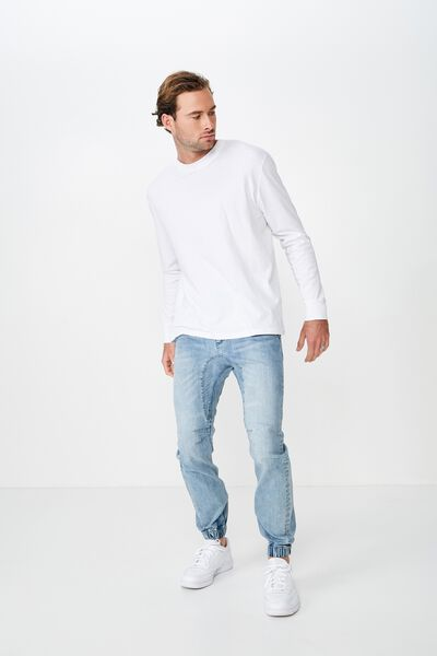 Slim Denim Jogger, OCEAN BLUE