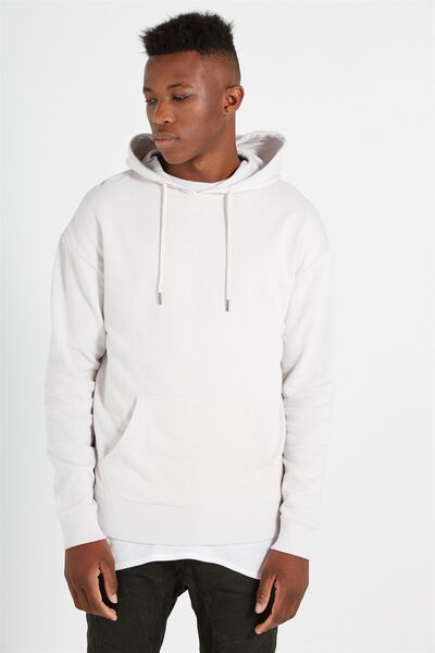 Fleece Pullover 2, WASHED WHITE