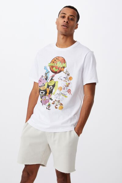 Tbar Collab Movie And Tv T-Shirt, LCN WB WHITE/SPACE JAM-RIVALS
