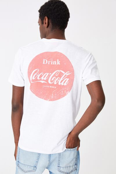 Tbar Collab Pop Culture T-Shirt, LCN CC WHITE SLUB/COKE - CIRCLE LOGO