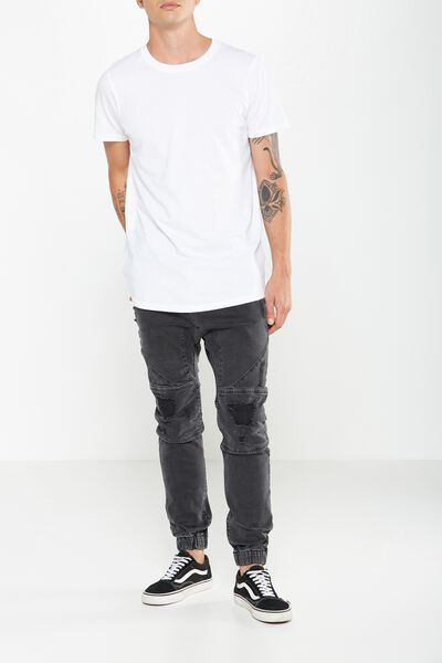 Slim Denim Jogger, ASPHALT GREY MOTO/ RIPS