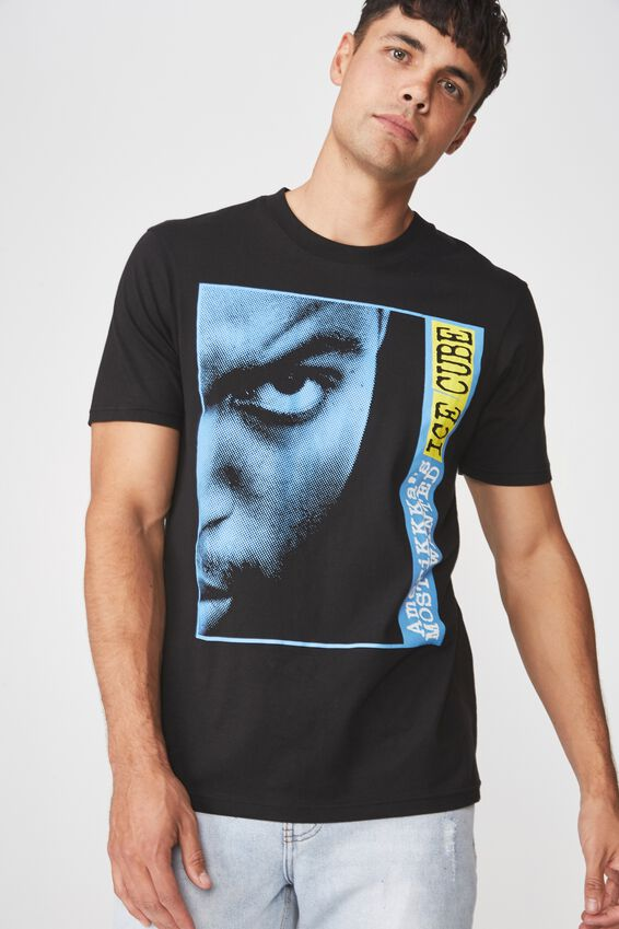 Ice Cube T Shirt, LC BLACK/ICE CUBE-AMERIKKAS MOST WANTED