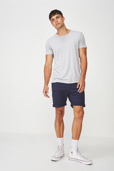 Washed Chino Short, TRUE NAVY