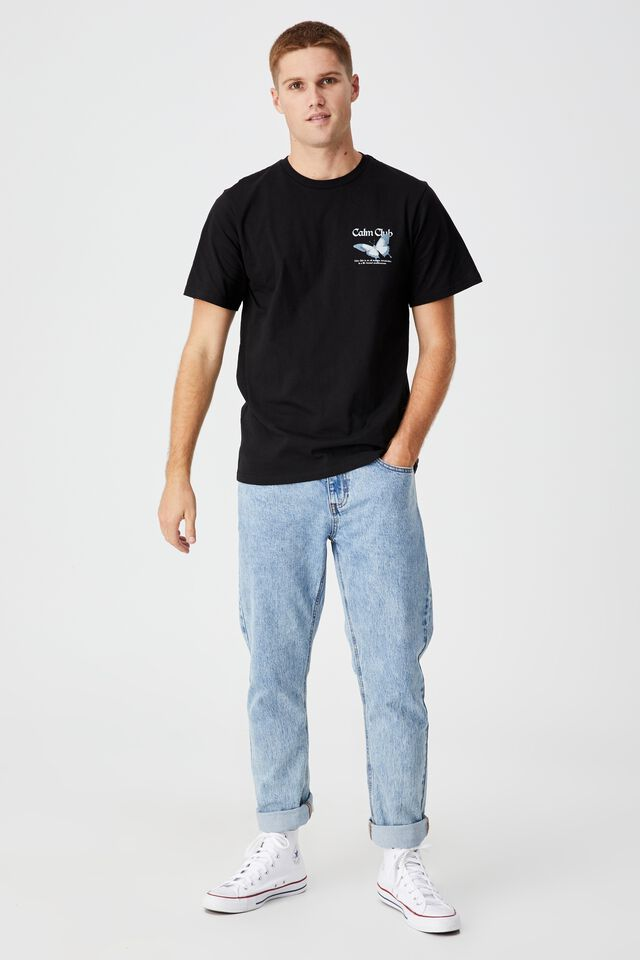 Tbar Art T-Shirt, BLACK/CALM CLUB