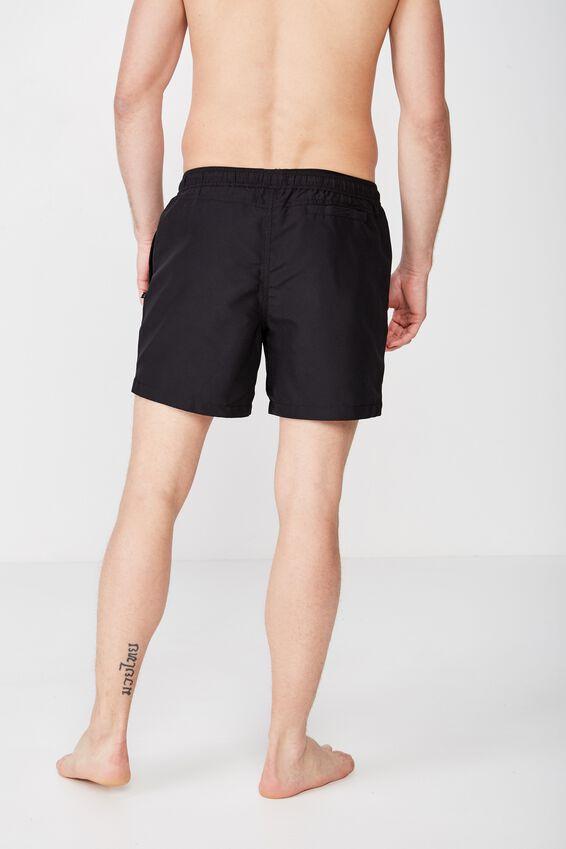 Swim Short, SOLID BLACK