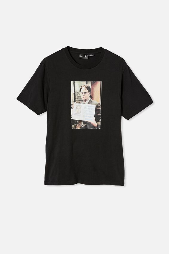 Tbar Collab Movie And Tv T-Shirt, LCN UNI BLACK/THE OFFICE-PERFORMANCE REVIEW